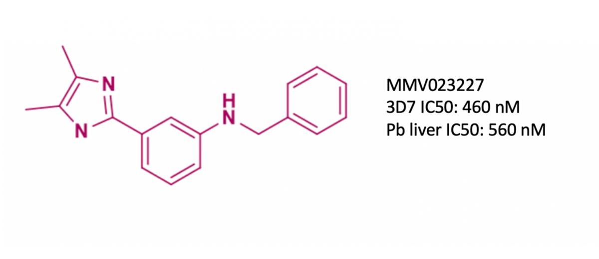 Aryl imidazole structure