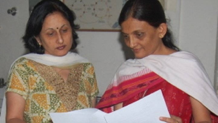 Dr Neena Valecha (on the left) with a colleague.