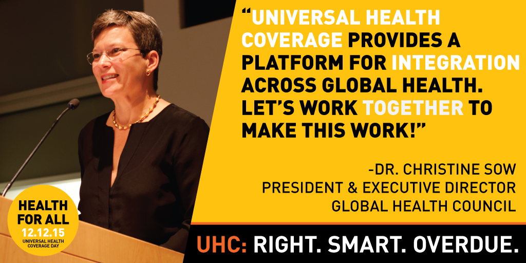Universal Health Coverage Day 2015: Champion Quotes